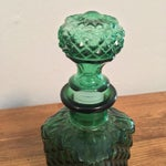 Image of Green Square Glass Decanter