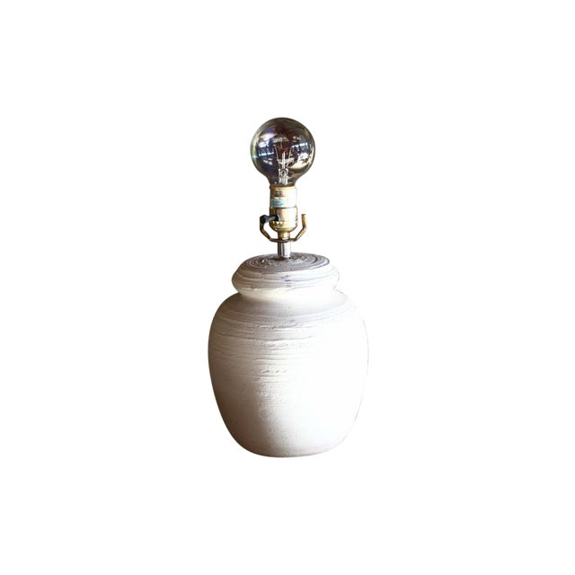 Image of White Plaster Table Lamp