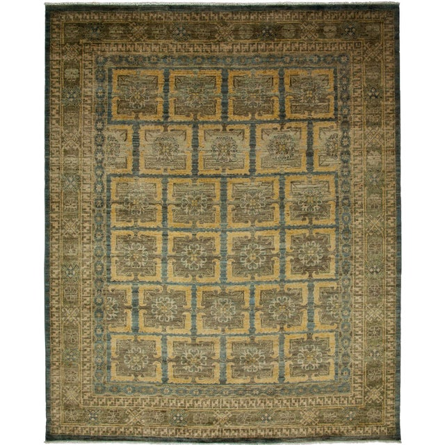 "Khotan Hand Knotted Area Rug - 8'1"" X 9'9"" - Image 3 of 3"