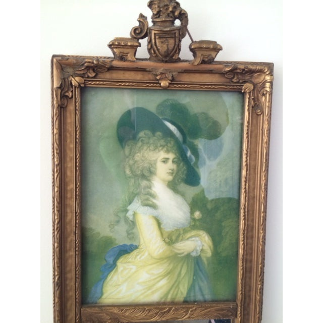 Trumeau Mirror with 18th Century Woman - Image 3 of 6