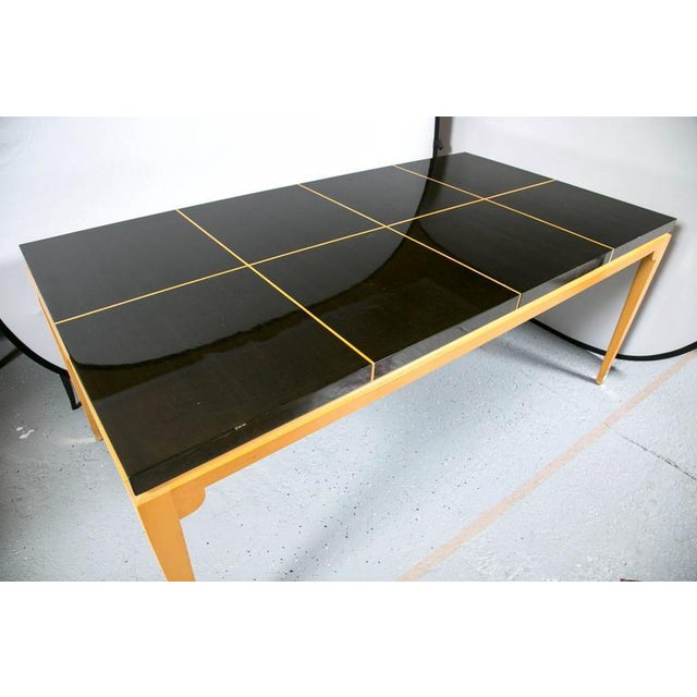 Image of Tommi Parzinger Inlaid Mahogany Dining Table