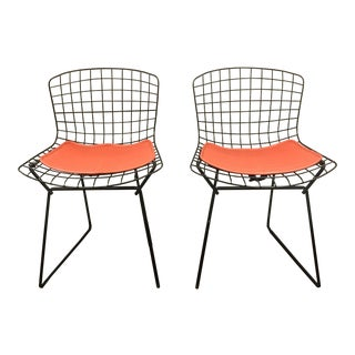 Vintage Knoll Harry Bertoia Child Chairs - A Pair