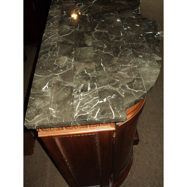 Chippendale-Style Marble Top Buffet - Image 5 of 5