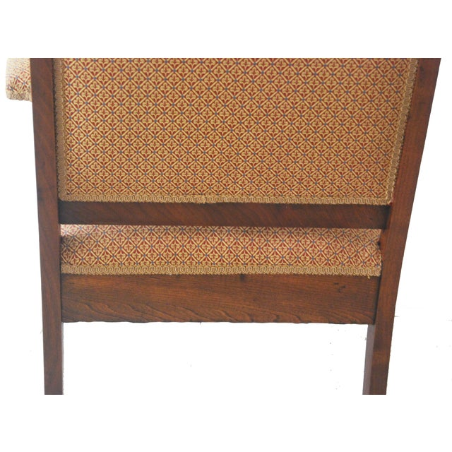 American Walnut & Upholstered Armchair - Image 9 of 10