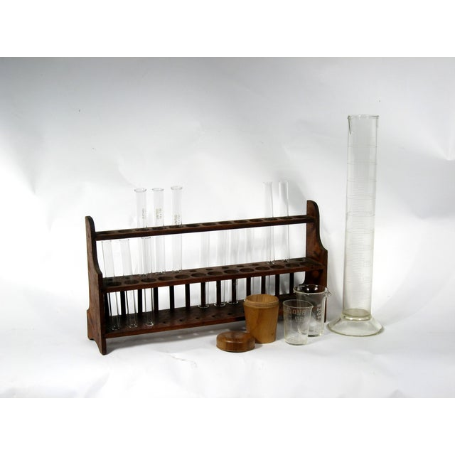 Image of Vintage Scientific Test Tubes & Holder