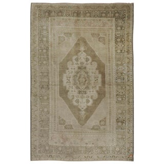 Vintage Turkish Oushak Rug - 4′9″ × 7′9″