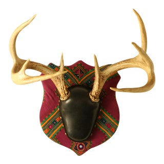 Chakla Upholstered Mounted Deer Antlers