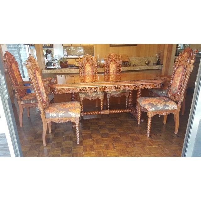 Rare Antique Narra Wood Dining Set - Image 4 of 11