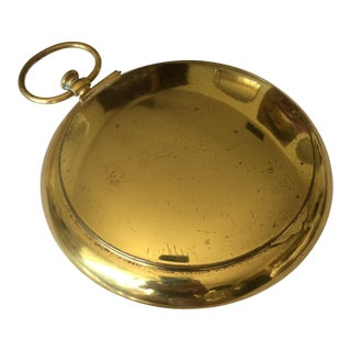 Italian Mid Century Brass Pocket Watch Box