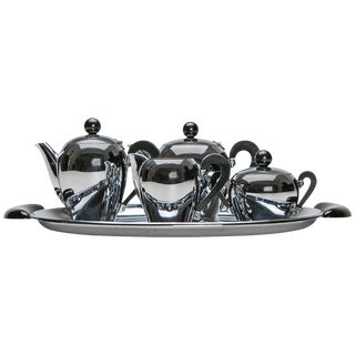 """""""Bombé"""" Coffee Set by Carlo Alessi for Alessi"""