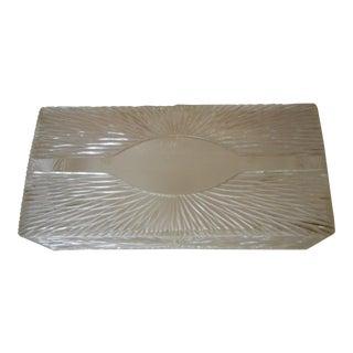 Lucite Wall Tissue Holder