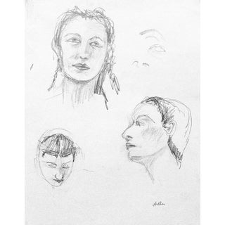 """Faces"" Portrait Pencil Drawing By Martha Holden"