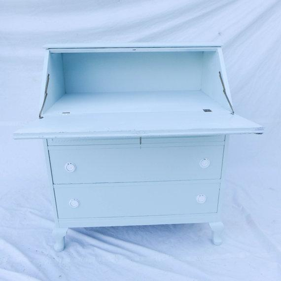 Antique Cottage Style Painted Writing Desk - Image 5 of 5