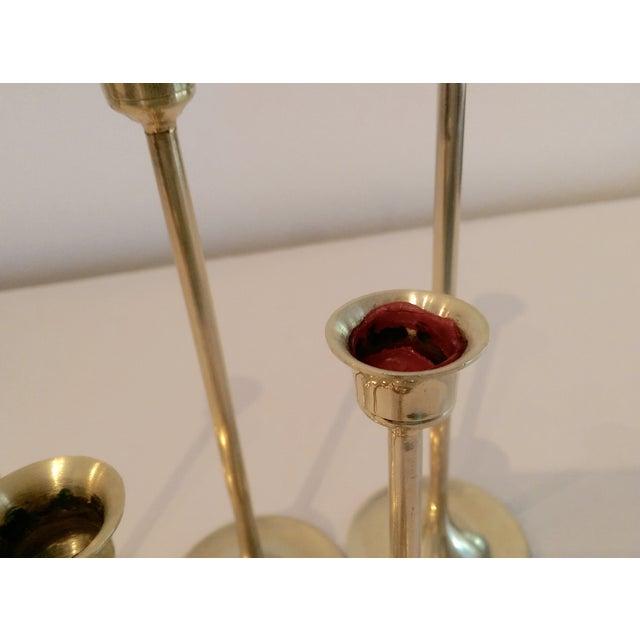 Slender Brass Candlesticks - Set of 6 - Image 8 of 8