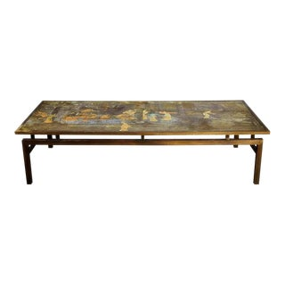 Philip & Kelvin Laverne Chin Ying Bronze Coffee Table, Rare Massive