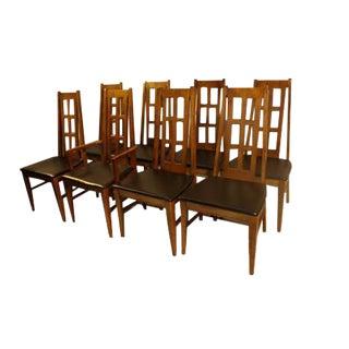 Bassett Mid-Century Dining Chairs - Set of 8
