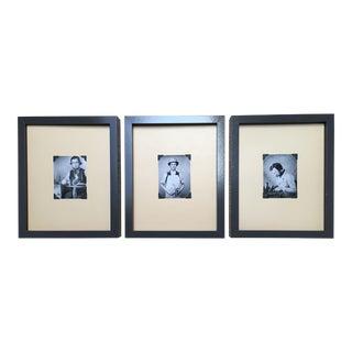 Framed Vintage Daguerreotype Prints - Set of 3