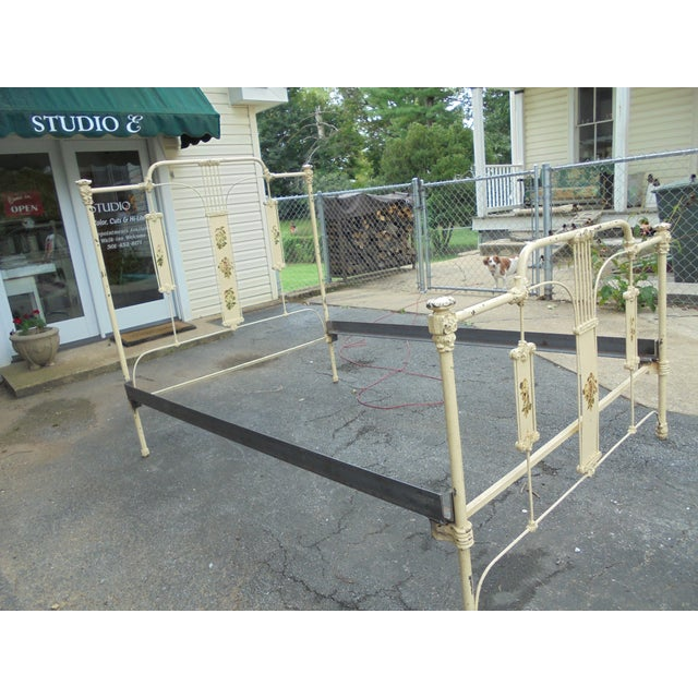 Antique Iron Full Bed - Image 3 of 12