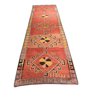 "Vintage Turkish Oushak Runner - 3'1"" X 10'3"""
