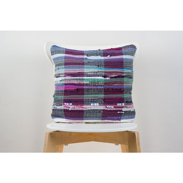 Handwoven Rag Rug Pillow - A Pair - Image 2 of 4