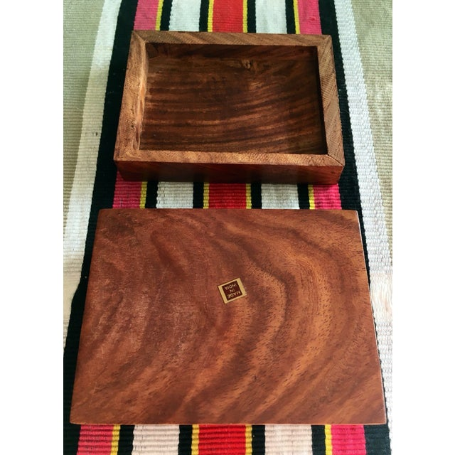 Image of Wood Box With Brass Inlay