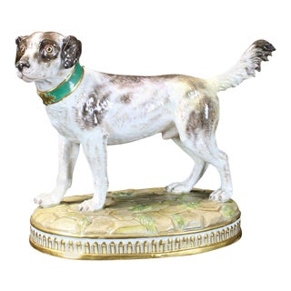 19th Century Meissen Dog Figurine
