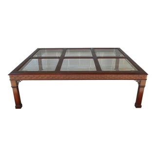 Kindel Chippendale Style Mahogany Coffee Table