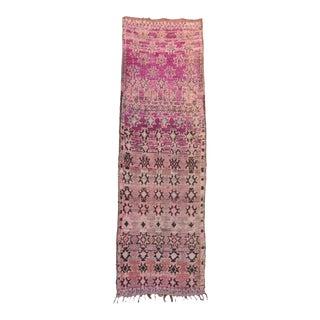 "Azilal Vintage Moroccan Rug, 3'1"" x 9'11"" feet"