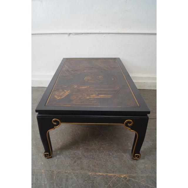 Kindel Chinoiserie Painted Ebonized Coffee Table - Image 4 of 10