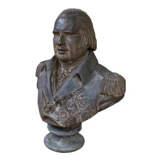 Painted Plaster Bust Depicting Louis XVIII, circa 1820