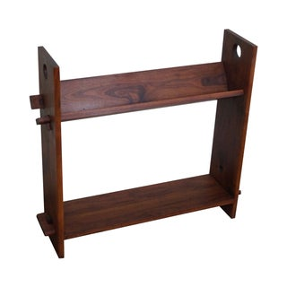 Vintage Solid Walnut Studio Made Bookcase
