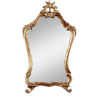 Italian Gilded Mirror with Crown Top