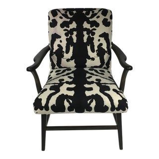 Hand Dyed Rorschach Pattern Side Chair