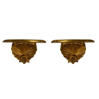 Italian Shell Wall Brackets - Pair