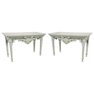 Antique French Marble-Top Consoles - A Pair
