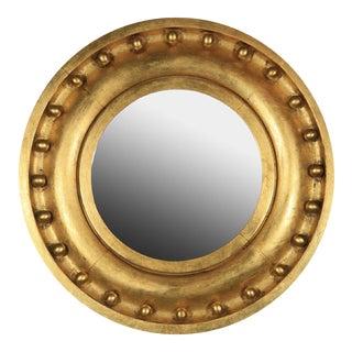 Antique Circular Gilded Mirror
