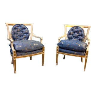 Hollywood Regency Style Chairs - A Pair