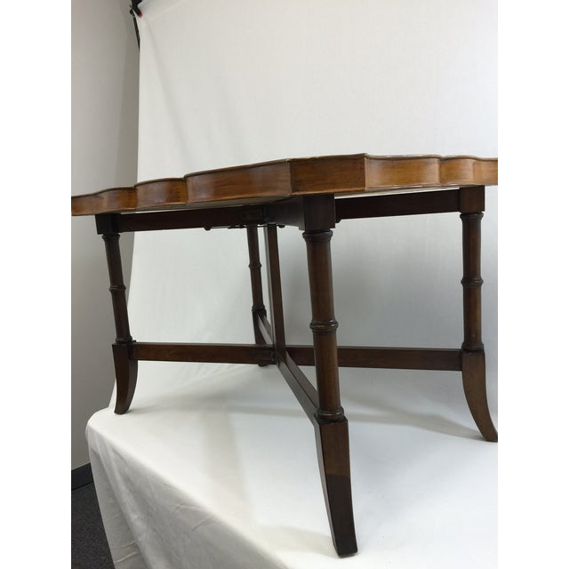 Faux Bamboo & Painted Metal Coffee Table - Image 6 of 6