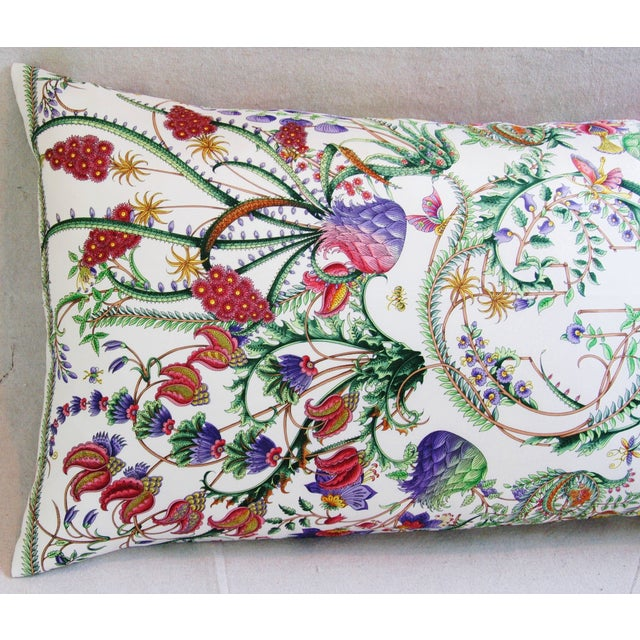 Designer Italian Gucci Floral Fanni Silk Pillow - Image 11 of 11