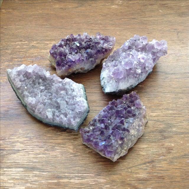 Natural Amethyst Rock Crystals - Set of 4 - Image 5 of 8