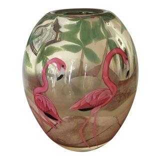 "1986 ""Orient & Flume"" Vase - Pink Flamingos"