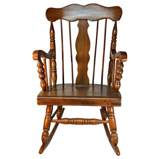 Colonial Style Solid Oak Rocking Chair