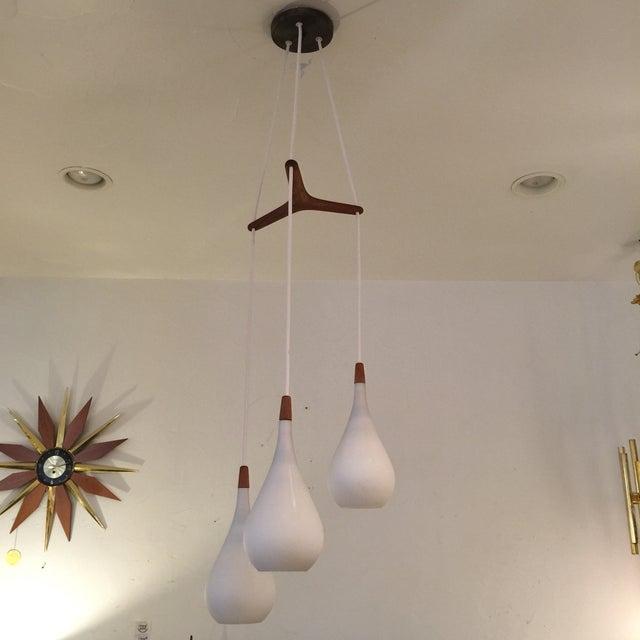 Laurel Walnut 3 Pendant Light Fixture - Image 9 of 11