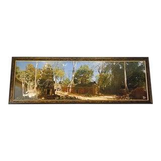 "Angkor Wat Temple Print Cambodia Hindu Temple 66"" Framed Artwork"