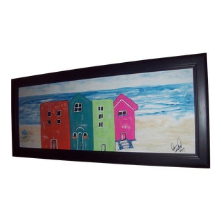 """Beach Cottages"" Original Painting"