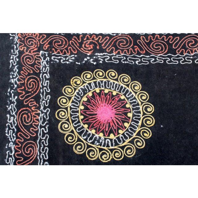 Embroidered Vintage Velvet Suzani - Image 3 of 7