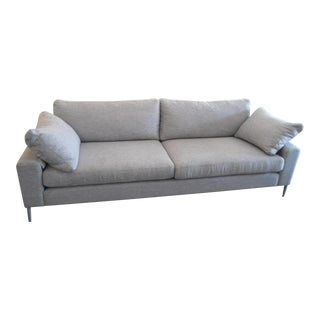 Winter Gray Sofa with Silver Metal Legs