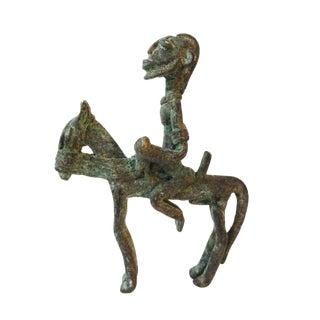 Dogon Bronze Horseman Cast Handmade Mali