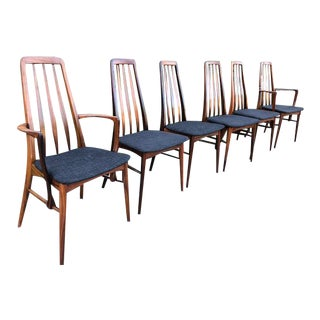 6 Danish Rosewood Dining Chairs By Niels Koefod Hornslet