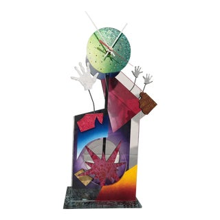 Memphis Style Mantel Clock